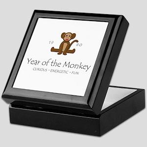 """Year of the Monkey"" [1980] Keepsake Box"